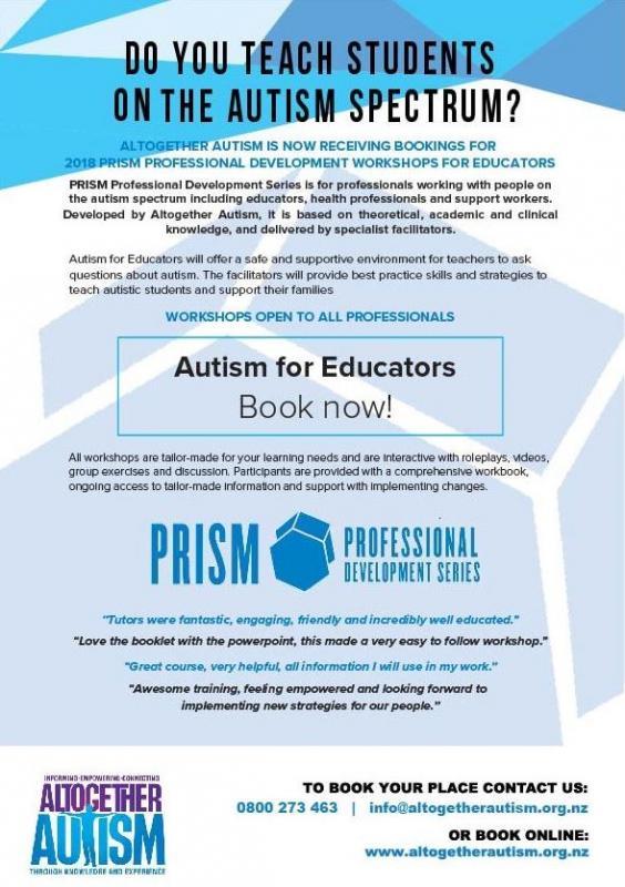 Workshops for Educators - Altogether Autism